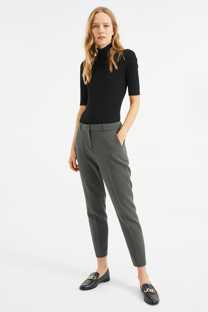 Dames slim fit pantalon Grijsgroen
