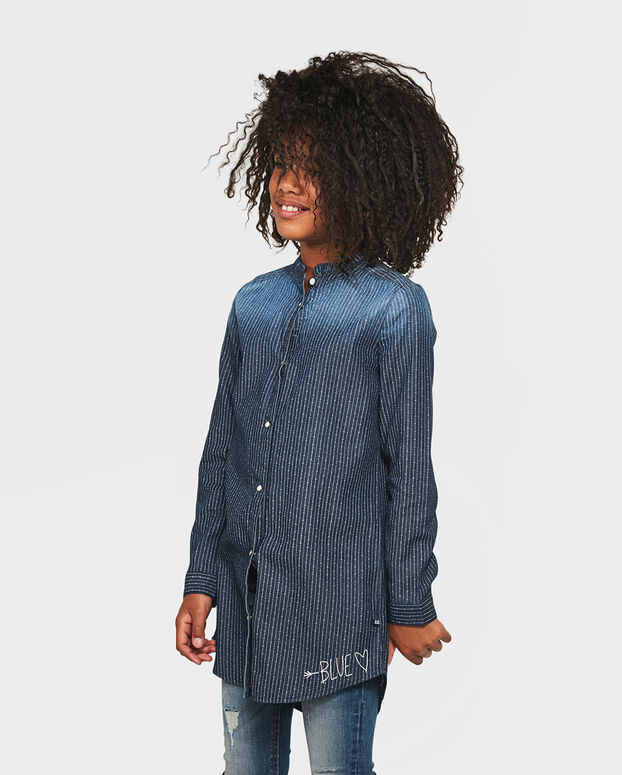 TUNIQUE DENIM PINSTRIPE FILLE Bleu
