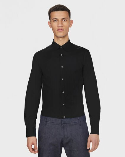 HEREN SLIM FIT STRETCH OVERHEMD Zwart