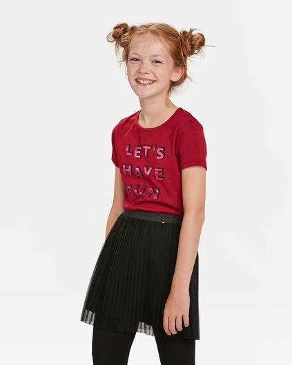 MEISJES FUN PRINT T-SHIRT Bordeauxrood