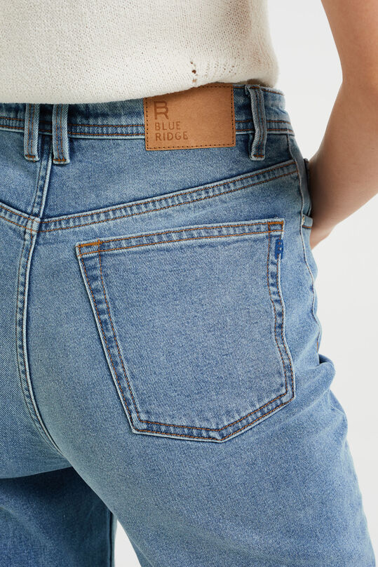 Dames mom fit jeans met stretch Lichtblauw