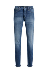 Heren slim fit comfort stretch jeans_Heren slim fit comfort stretch jeans, Donkerblauw