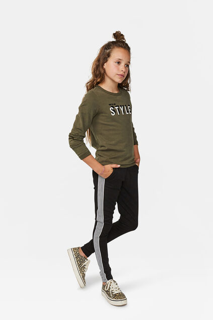 Pantalon de jogging sporty stripe fille Noir