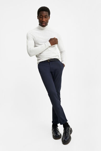 Heren uni skinny fit chino Donkerblauw