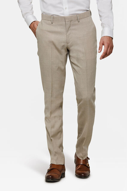 HEREN SLIM FIT PANTALON LANARK Beige