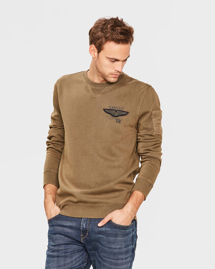 SWEATER RELAXED FIT HOMME Vert armee