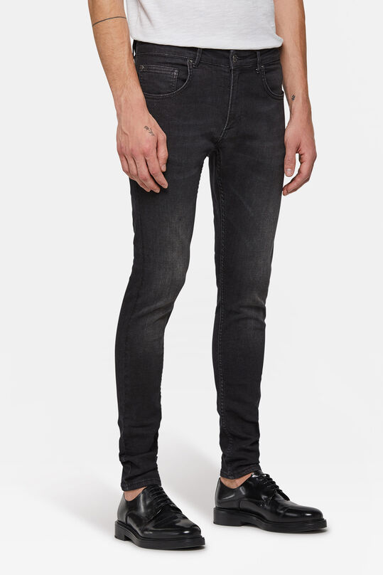 Heren superskinny comfort stretch tapered jeans Zwart