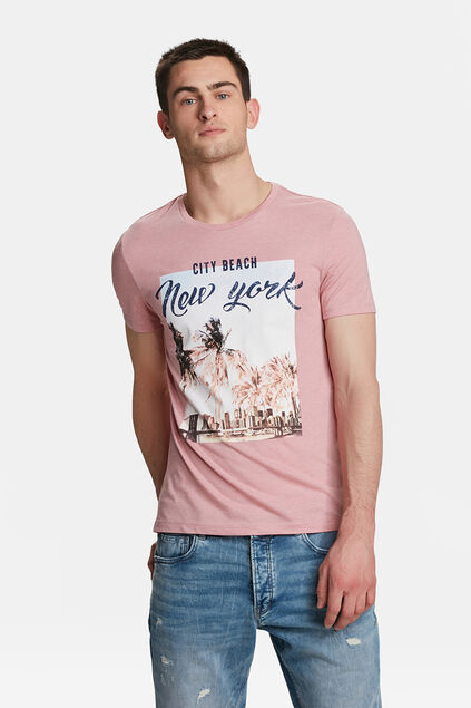 HEREN NEW YORK PRINT T-SHIRT Oudroze