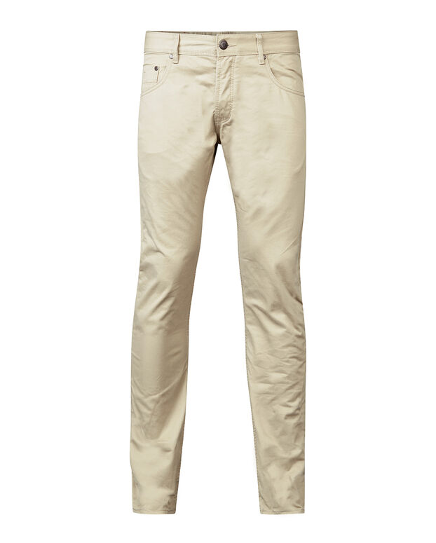 HEREN SLIM STRAIGHT BROEK Beige