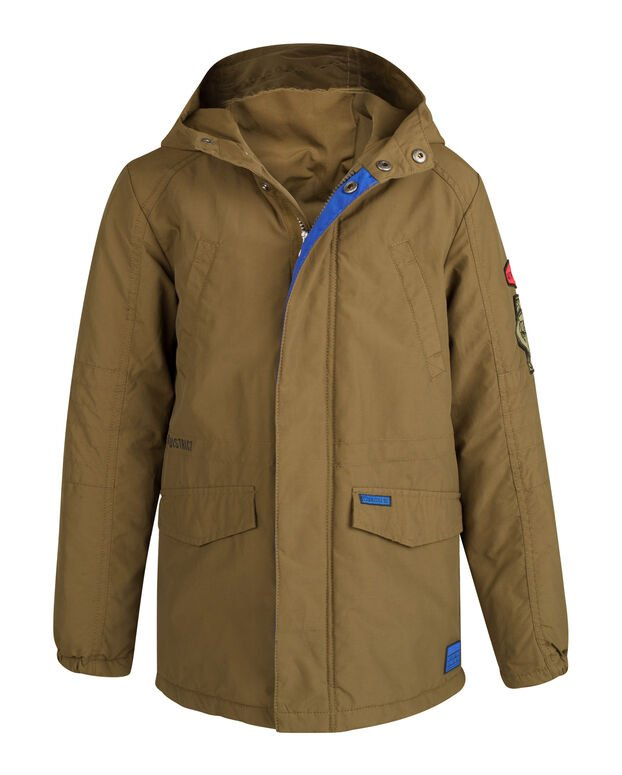 JONGENS HOODED PARKA Legergroen
