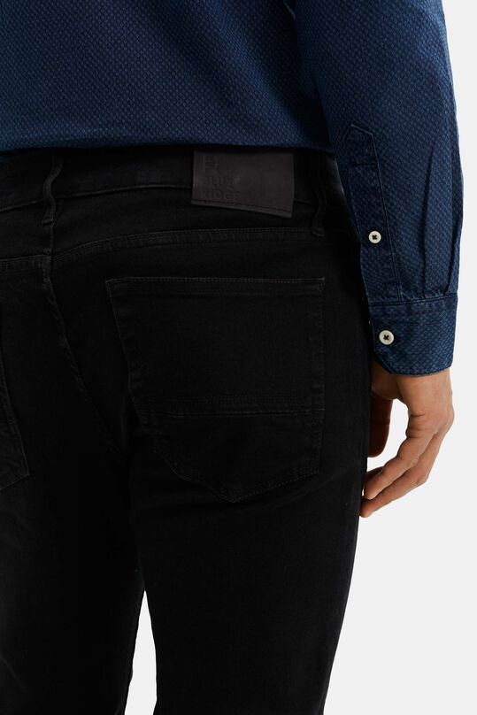 Heren slim fit super stretch jeans Zwart