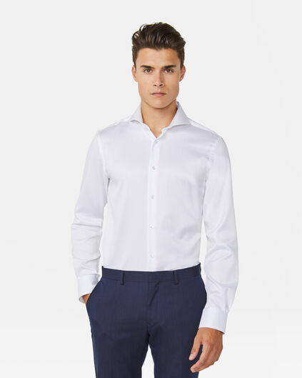 HEREN SLIM FIT LUXURY COTTON OVERHEMD Wit