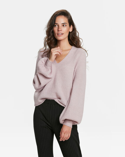 PULL MOHAIR FEMME Vieux rose