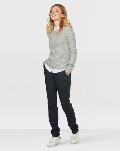 DAMES RELAXED FIT LYOCELL CHINO Donkerblauw
