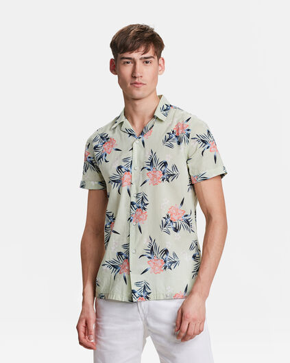 CHEMISE RELAXED FIT TROPICAL PRINT HOMME Vert menthe