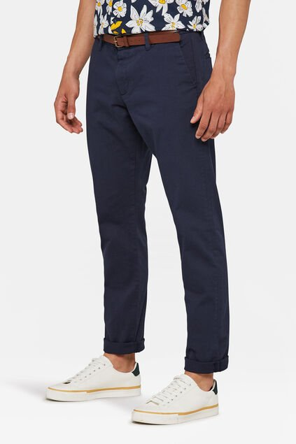 Heren slim tapered chino Donkerblauw