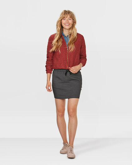 DAMES SLIM FIT MINI ROK Grijs