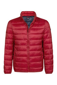 Heren puffer jacket_Heren puffer jacket, Bordeauxrood