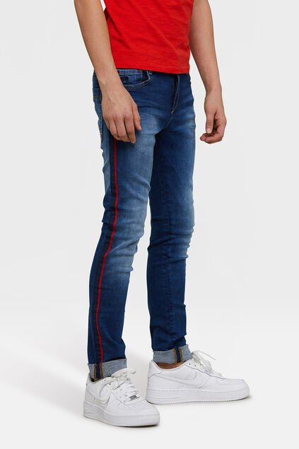 Jeans jog denim super skinny fit garçon Bleu