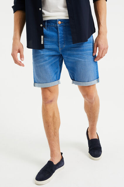 Short denim homme Bleu vif