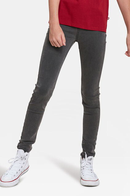 MEISJES SUPER SKINNY POWER STRETCH JEGGING Donkergrijs