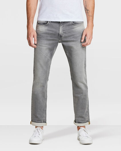 JOG DENIM REGULAR STRAIGHT HOMME Gris