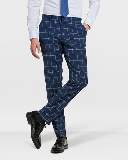 HEREN SLIM FIT PANTALON NEWARK Donkerblauw