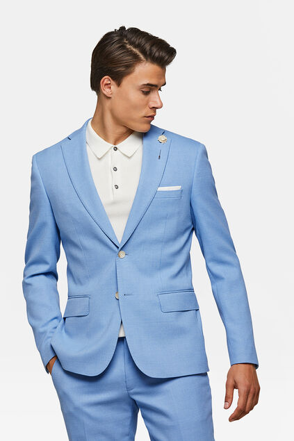 Heren slim fit blazer dunes Blauw