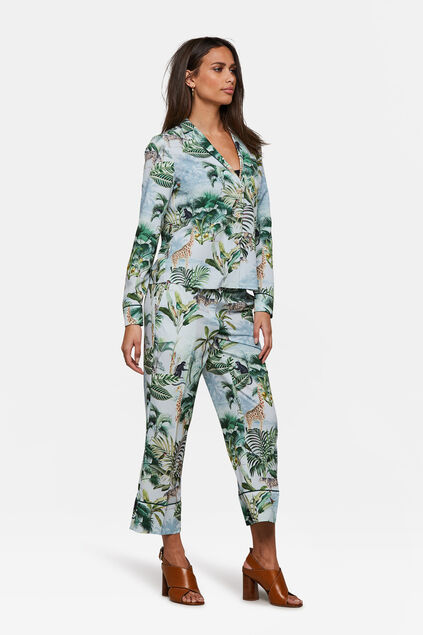 Dames bloemendessin pantalon All-over print
