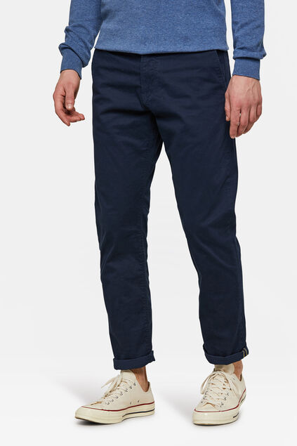 Heren regular tapered chino Marineblauw
