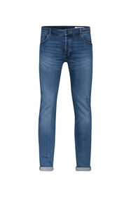 Heren skinny tapered jog denim jeans_Heren skinny tapered jog denim jeans, Blauw