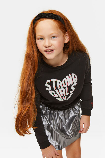 Sweat-shirt strong fille Noir