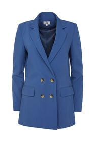 Dames regular fit double-breasted blazer_Dames regular fit double-breasted blazer, Marineblauw