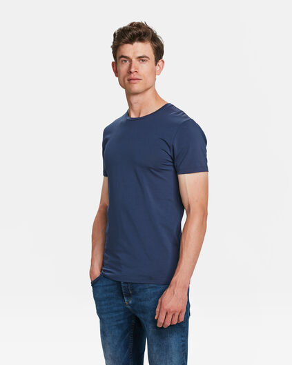 HEREN ORGANIC COTTON T-SHIRT Blauw