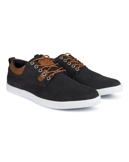Heren canvas sneakers Zwart