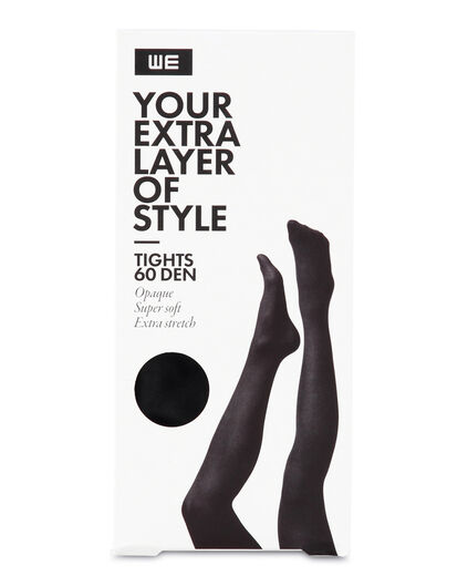 DAMES SUPER SOFT EXTRA STRETCH 60 DEN TIGHTS Zwart