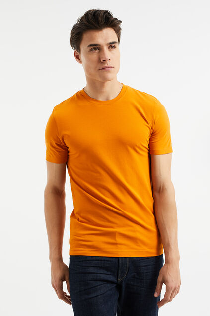T-shirt slim fit de coton biologique homme Orange