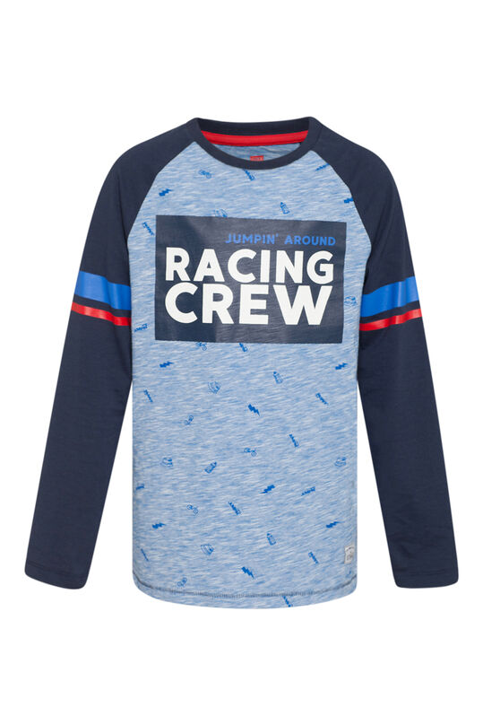 Jongens racing crew T-shirt Marineblauw