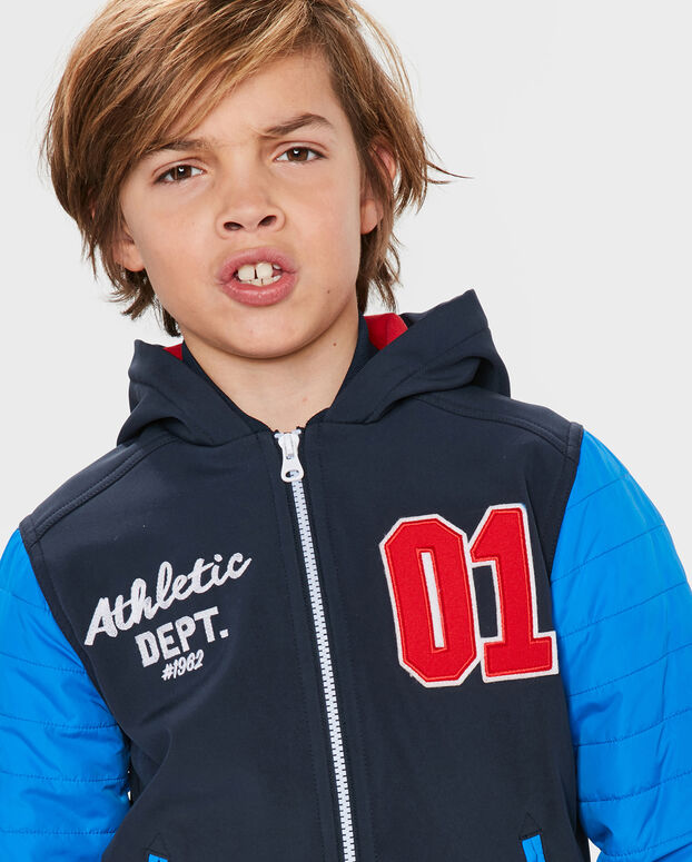 JONGENS ATHLETIC CONTRAST JACKET Donkerblauw
