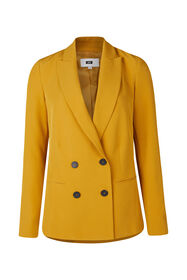 Dames loose fit double breasted blazer_Dames loose fit double breasted blazer, Okergeel