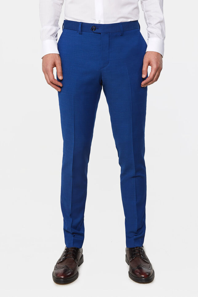 Heren slim fit pantalon Johnson Blauw
