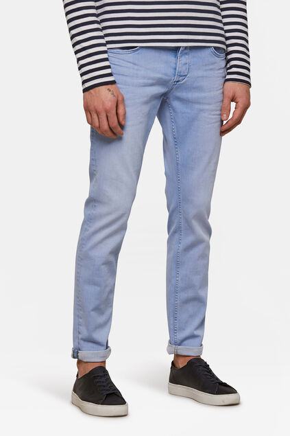 Heren slim tapered comfort stretch jeans Blauw