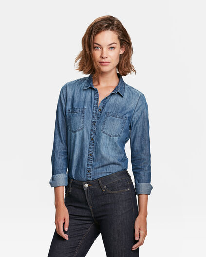 DAMES DENIM BLOUSE Blauw