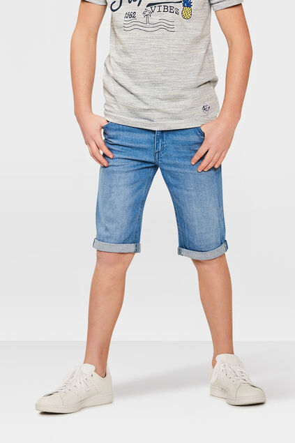 JONGENS SLIM FIT SHORT Blauw