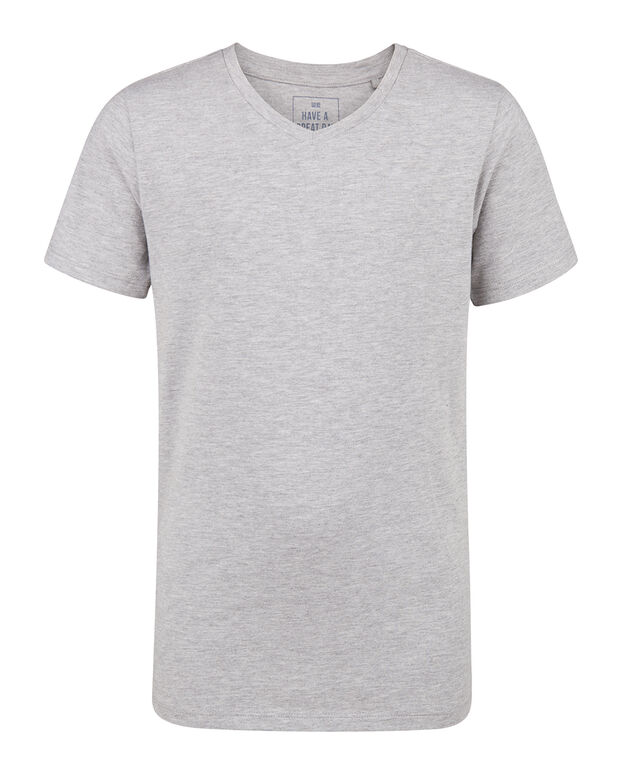 T-SHIRT V-NECK Gris clair