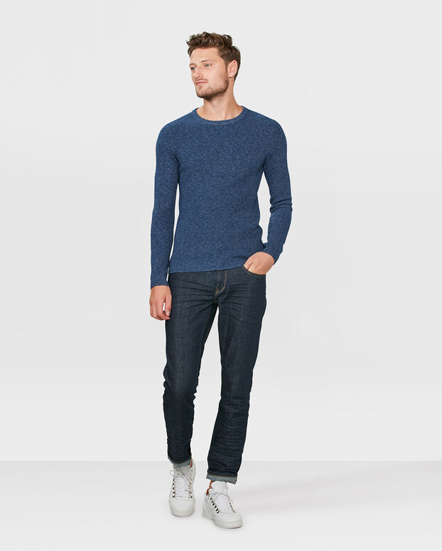 PULL STRUCTURE HOMME Bleu