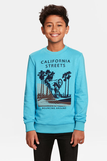 JONGENS CALIFORNIA STREETS SWEATER Blauw