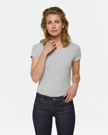 T-SHIRT ORGANIC COTTON FEMME Gris clair