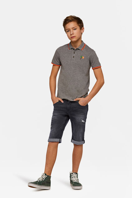 Jongens Slim Fit jog denim short Zwart