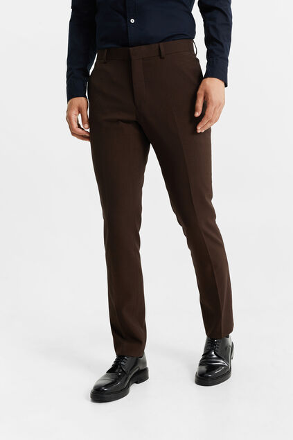 Heren slim fit pantalon, Dali Donkerbruin